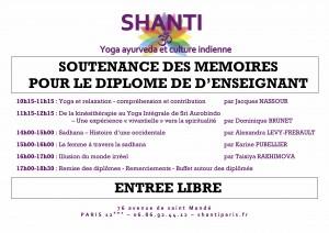 Shanti - Soutenance des mèmoires du samedi 13 mai 2017